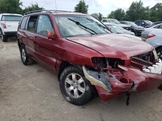 Salvage cars for sale from Copart Baltimore, MD: 2003 Toyota Highlander