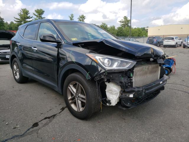 Salvage cars for sale from Copart Exeter, RI: 2017 Hyundai Santa FE S