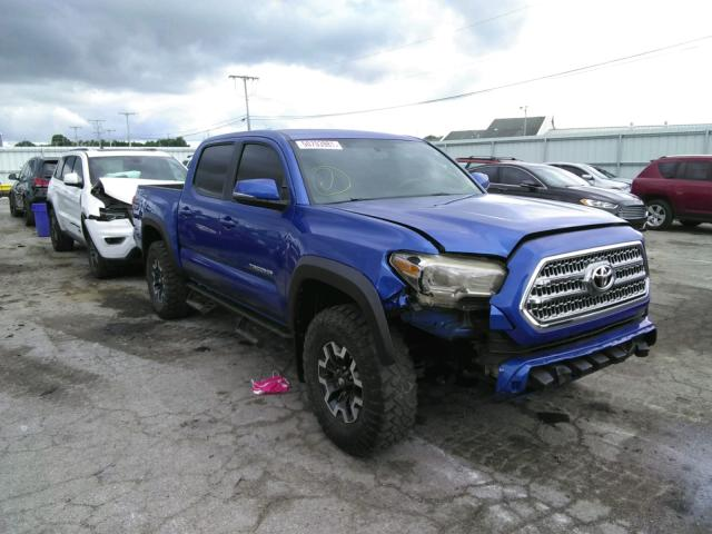 Salvage cars for sale from Copart Dyer, IN: 2017 Toyota Tacoma DOU