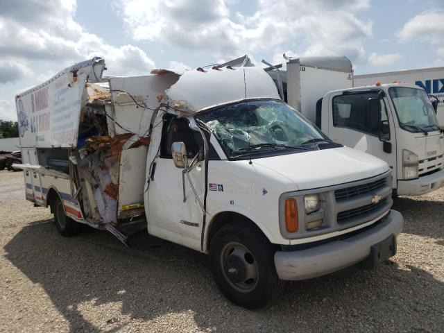 Salvage cars for sale from Copart Wilmer, TX: 2001 Chevrolet Express CU