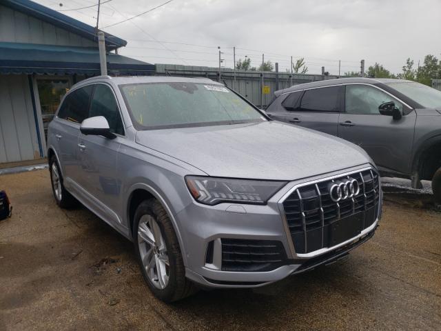 Salvage cars for sale from Copart Pekin, IL: 2021 Audi Q7 Premium