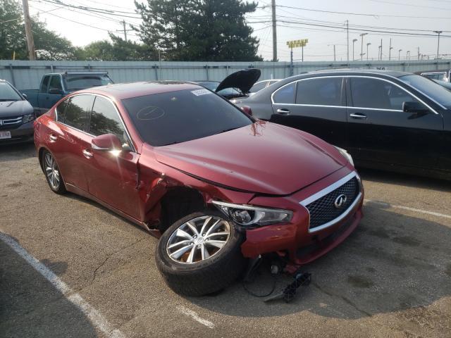 Vehiculos salvage en venta de Copart Moraine, OH: 2014 Infiniti Q50 Base