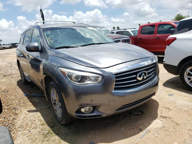 Salvage cars for sale at Mercedes, TX auction: 2015 Infiniti QX60