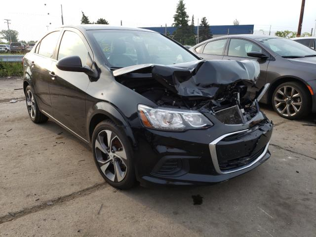 Salvage cars for sale from Copart Woodhaven, MI: 2019 Chevrolet Sonic Premium