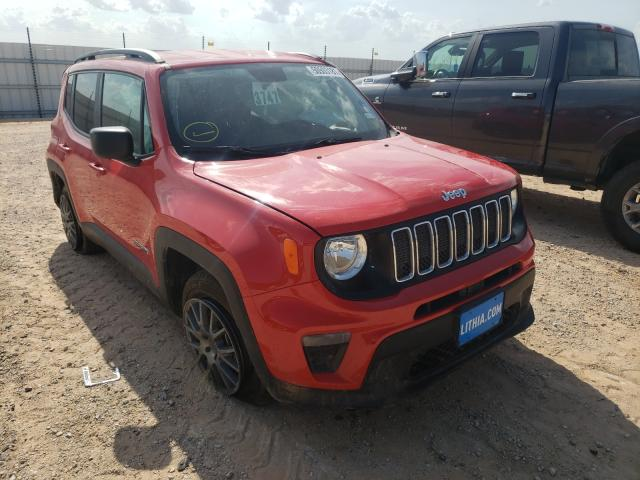 Salvage cars for sale at Andrews, TX auction: 2020 Jeep Renegade S