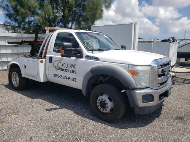 Salvage cars for sale from Copart Miami, FL: 2011 Ford F450 Super