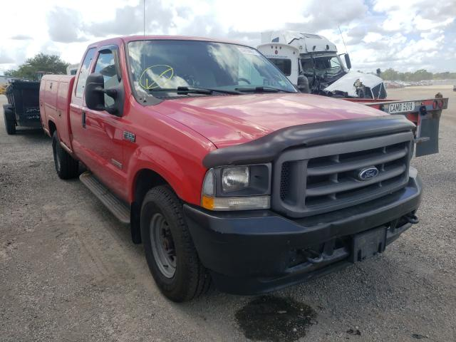Salvage cars for sale from Copart Orlando, FL: 2004 Ford F350 SRW S