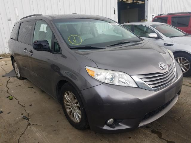 Salvage cars for sale from Copart Windsor, NJ: 2015 Toyota Sienna XLE
