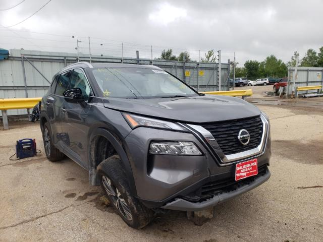 Salvage cars for sale from Copart Pekin, IL: 2021 Nissan Rogue SV