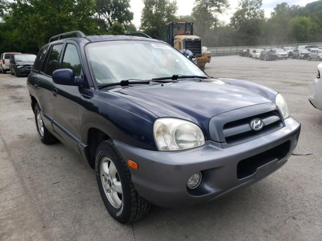 Salvage cars for sale from Copart Ellwood City, PA: 2005 Hyundai Santa FE G