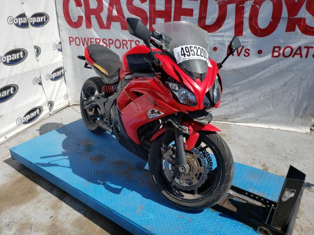 Salvage cars for sale from Copart Anthony, TX: 2012 Kawasaki EX650 EC
