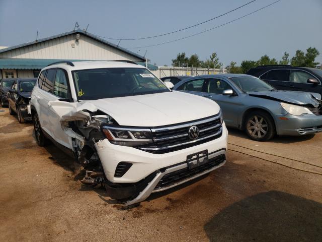 Salvage cars for sale from Copart Pekin, IL: 2021 Volkswagen Atlas SE