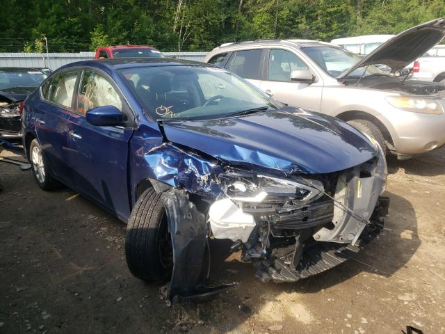 Salvage cars for sale from Copart Lyman, ME: 2019 Nissan Sentra S