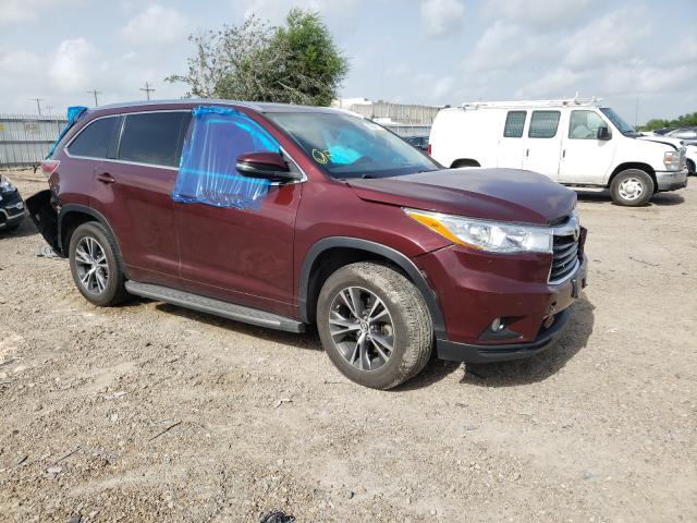 Vehiculos salvage en venta de Copart Mercedes, TX: 2016 Toyota Highlander