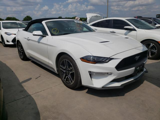 Salvage cars for sale from Copart Grand Prairie, TX: 2020 Ford Mustang