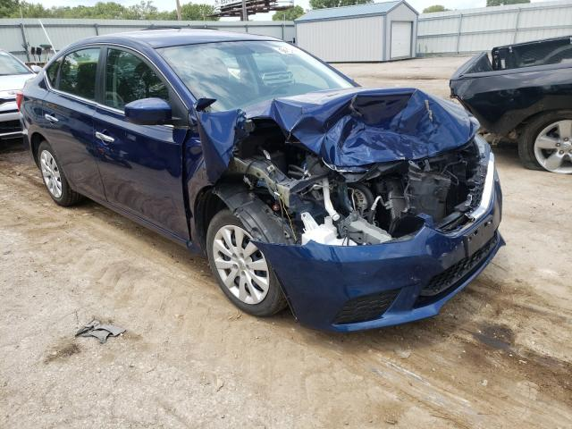 Salvage cars for sale from Copart Wichita, KS: 2019 Nissan Sentra S