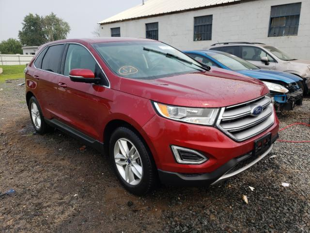 Salvage cars for sale from Copart Hillsborough, NJ: 2016 Ford Edge SEL