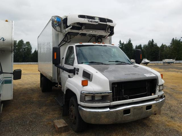 Salvage cars for sale from Copart Arlington, WA: 2006 Chevrolet C5500 C5C0