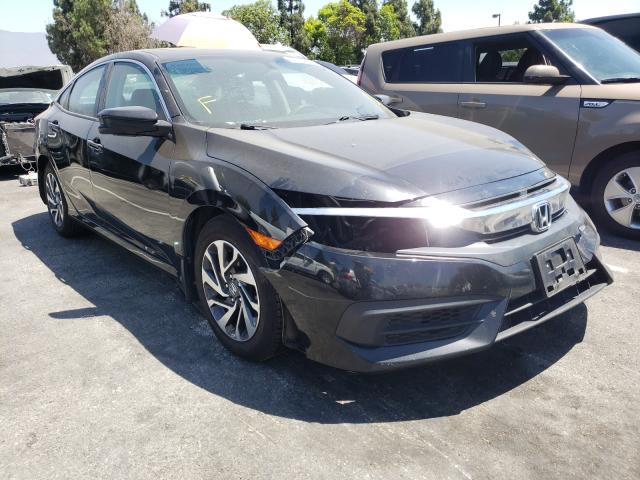Salvage cars for sale from Copart Rancho Cucamonga, CA: 2017 Honda Civic EX