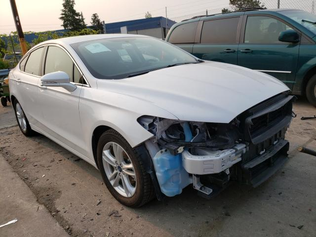 Salvage cars for sale from Copart Woodhaven, MI: 2018 Ford Fusion SE
