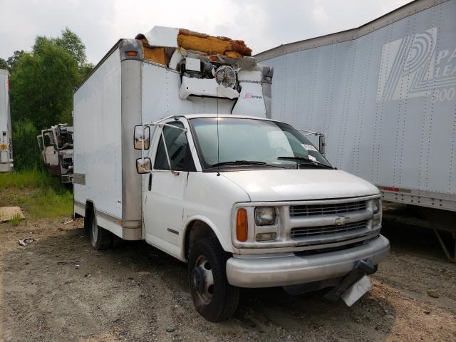 Salvage trucks for sale at Glassboro, NJ auction: 2002 Chevrolet Express G3