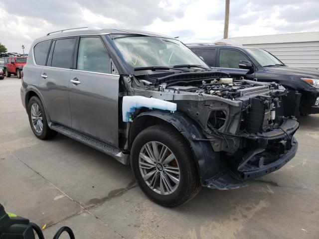 Salvage cars for sale from Copart Grand Prairie, TX: 2019 Infiniti QX80 Luxe