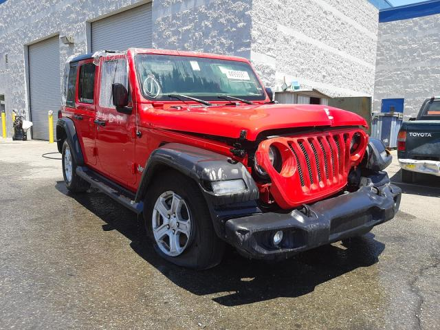 Salvage cars for sale from Copart Rancho Cucamonga, CA: 2020 Jeep Wrangler U