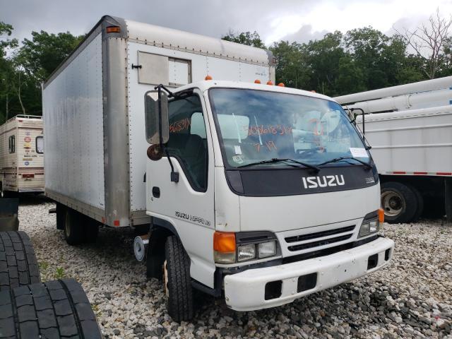 Salvage trucks for sale at West Warren, MA auction: 2005 Isuzu NPR