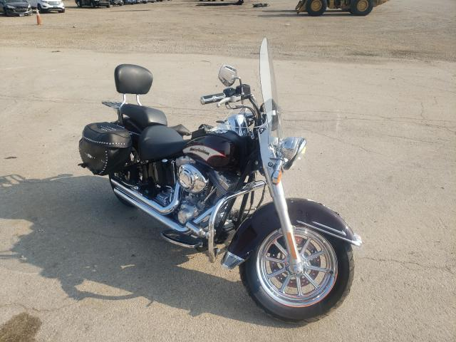 Salvage cars for sale from Copart Elgin, IL: 2006 Harley-Davidson Flsti