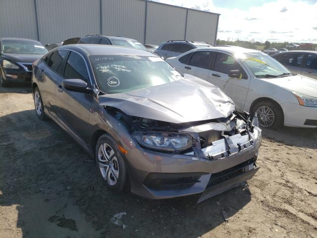 Salvage cars for sale from Copart Apopka, FL: 2018 Honda Civic LX