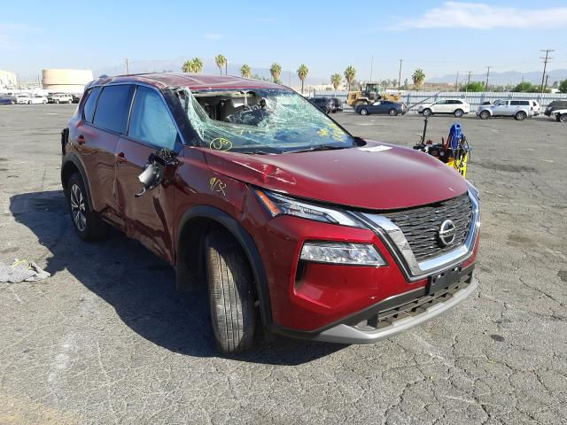 Salvage cars for sale from Copart Colton, CA: 2021 Nissan Rogue SV