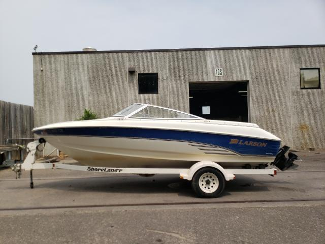 Larson salvage cars for sale: 1999 Larson Boat With Trailer