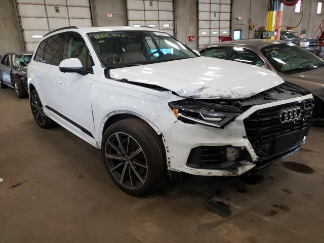 Salvage cars for sale from Copart Blaine, MN: 2021 Audi Q7 Premium