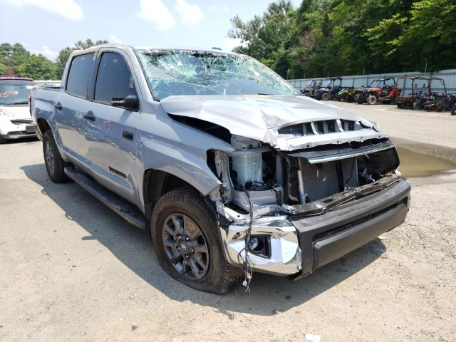 Salvage cars for sale at Shreveport, LA auction: 2021 Toyota Tundra CRE