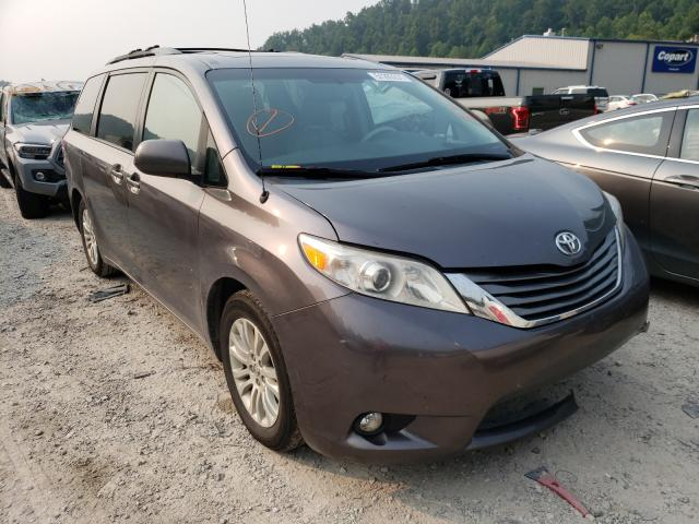 Salvage cars for sale from Copart Hurricane, WV: 2014 Toyota Sienna XLE