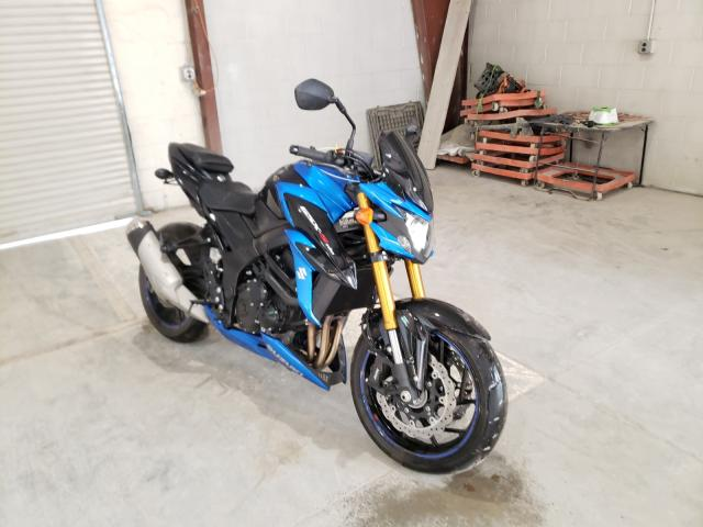 Salvage motorcycles for sale at Leroy, NY auction: 2018 Suzuki GSX-S750 M