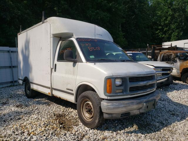 Salvage trucks for sale at West Warren, MA auction: 2000 Chevrolet Express G3