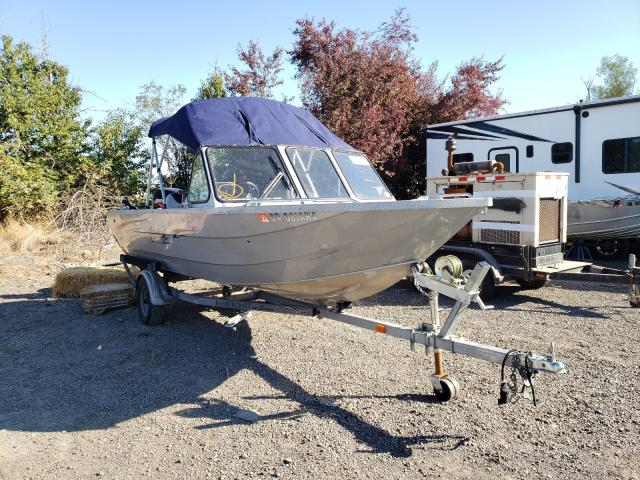 Salvage boats for sale at Woodburn, OR auction: 2002 Harb 1875