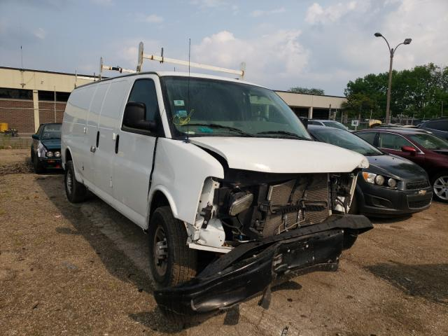 Salvage cars for sale from Copart Wheeling, IL: 2015 Chevrolet Express G2