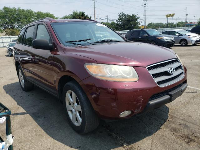 Salvage cars for sale from Copart Moraine, OH: 2008 Hyundai Santa FE S