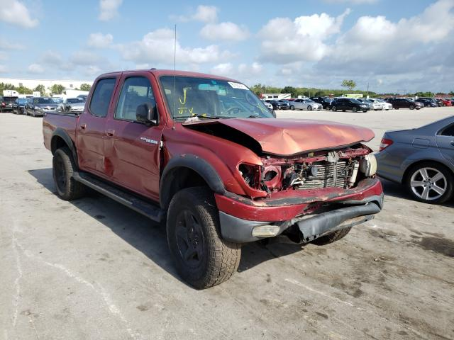 Salvage cars for sale from Copart Orlando, FL: 2002 Toyota Tacoma DOU