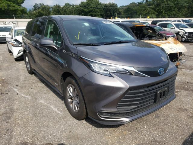 Salvage cars for sale from Copart Eight Mile, AL: 2021 Toyota Sienna LE