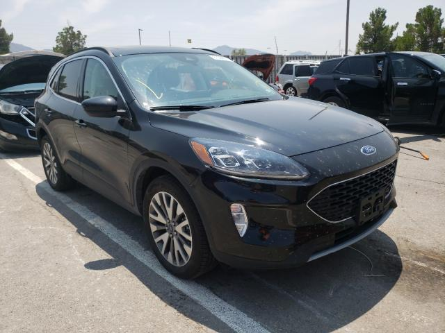 Salvage cars for sale from Copart Anthony, TX: 2021 Ford Escape Titanium