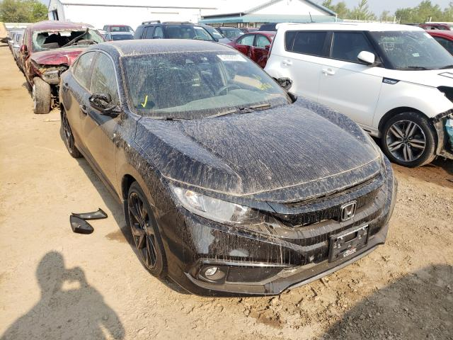 Salvage cars for sale from Copart Pekin, IL: 2020 Honda Civic Sport