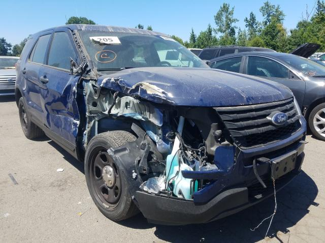 Salvage cars for sale from Copart Portland, OR: 2017 Ford Explorer P