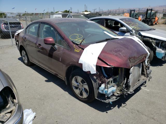 Salvage cars for sale from Copart San Martin, CA: 2013 Honda Civic LX
