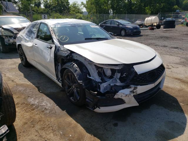 Salvage cars for sale from Copart Marlboro, NY: 2021 Acura TLX Tech A