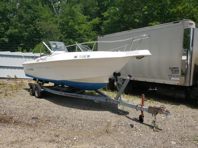 Aquasport salvage cars for sale: 1998 Aquasport Boat Only