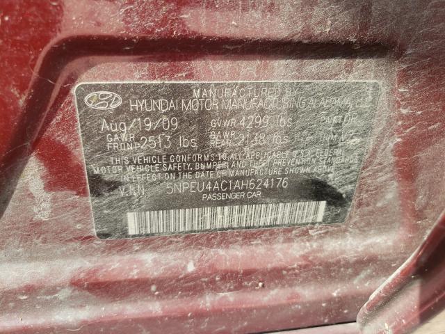 2010 HYUNDAI SONATA SE 5NPEU4AC1AH624176