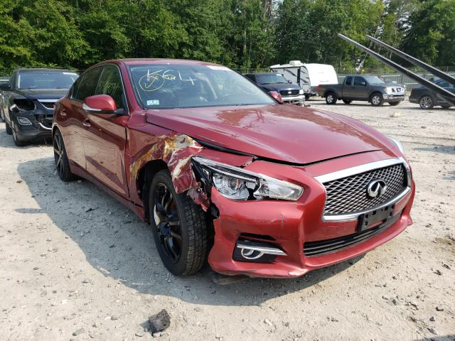 Salvage cars for sale at Candia, NH auction: 2015 Infiniti Q50 Base